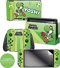 "Controller Gear Nintendo Switch Skin & Screen Protector Set, Officially Licensed By Nintendo - Super Mario Evergreen ""Yoshi Eggs"" - Nintendo Switch"