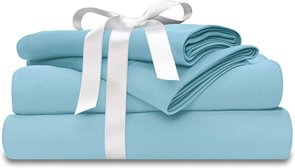 Wicked Sheets Moisture Wicking Cooling Bed Sheet Set For Night Sweats Hot Flashes King Deep Pocket Ice Blue