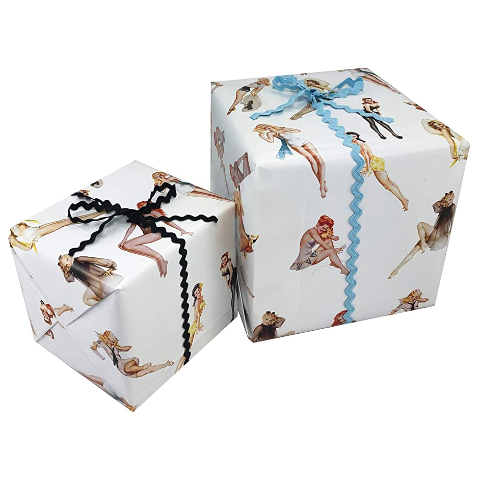 PIN-UP Girl Gift WRAP Paper - Funny Gift Wrap