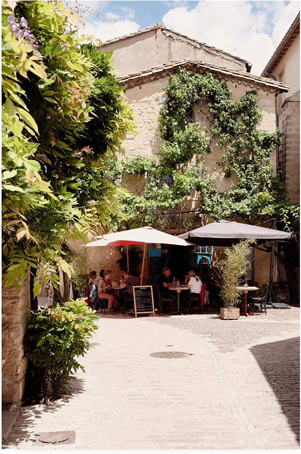 Trademark Fine Art PH01557C1219GG France Provencal Restaurant II by Philippe Hugonnard, 12x19