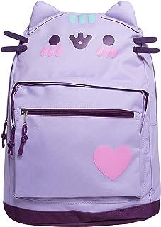 Pusheen Cat Face Backpack Standard (Purple)