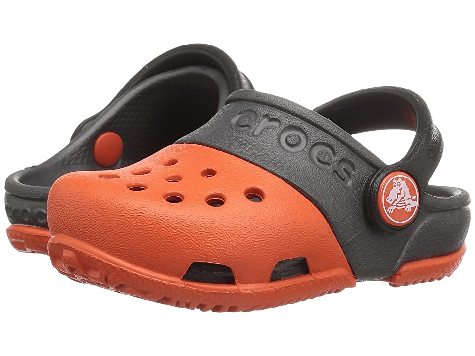 Crocs Kids Crocs Kids Electro II Clog (Toddler/Little Kid) (Tangerine/Graphite) Kids Shoes