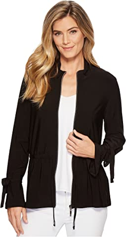 Pack and Go Travel Jersey Zip Front Jacket with Drawstring