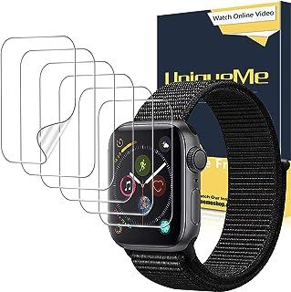 UniqueMe [6 Pack] Protector de Pantalla para Apple Watch 38mm Series 1/2/3, [Caso amistoso] [Película Flexible] Soft HD Cl...