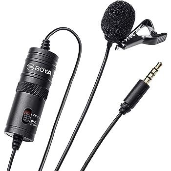 BOYA by by-m1Wechselrahmen Mikrofon für DSLR Kamera, Smartphone, Camcorder, Audio Blockflöten,Schwarz