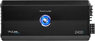 Planet Audio PL2400.4 4 Channel Car Amplifier - 2400 Watts, Full Range, Class A/B, 2/8 Ohm Stable, Mosfet Power Supply, Bridgeable