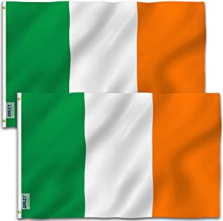 ANLEY Pack of 2 Fly Breeze 3x5 Foot Ireland Flag - Vivid Color and UV Fade Resistant - Canvas Header and Double Stitched -...