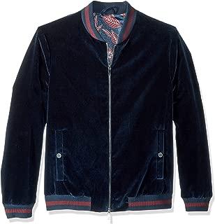 Men's Haydon Modern Slim Fit Velvet Bomber Jacket