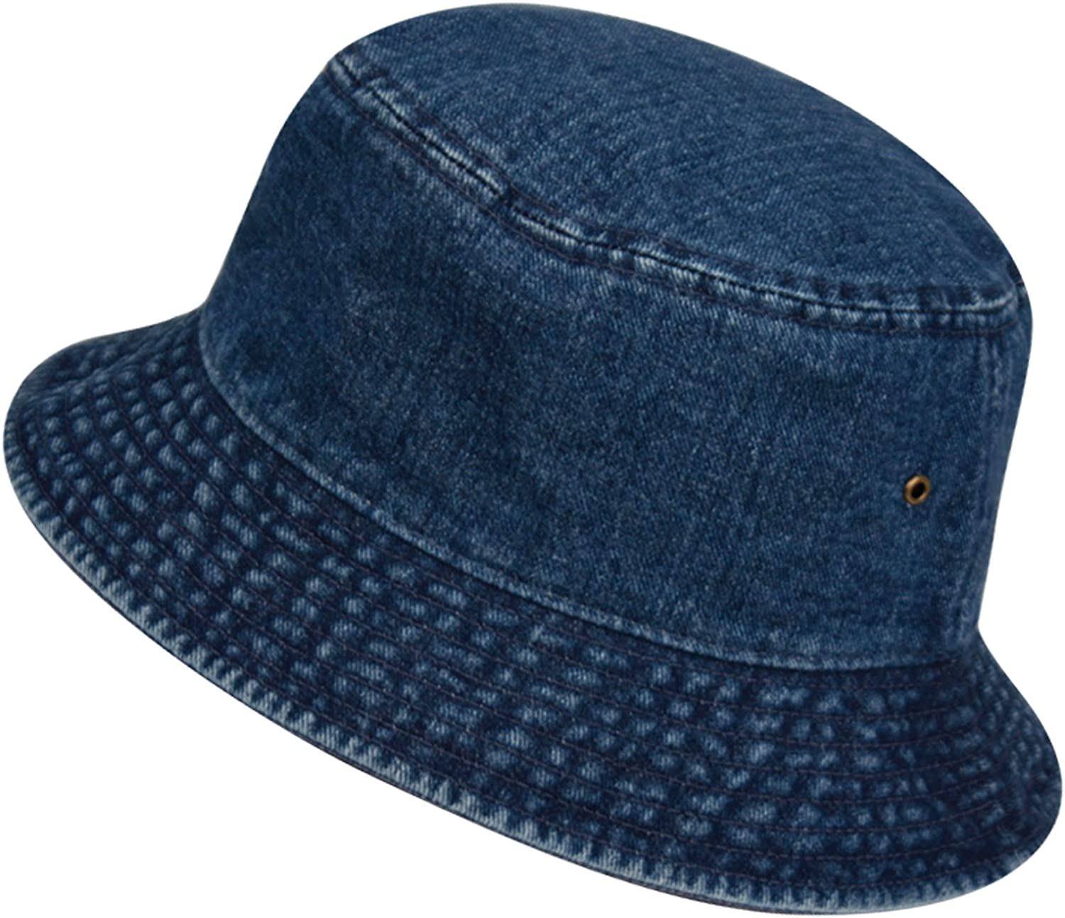 Packable Thinking of You Gift Cute Denim Bucket Hat for Women Handmade in the USA Simple Travel and Vacation Hat