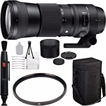 Sigma 150-600mm f/5-6.3 DG OS HSM Contemporary Lens for Canon EF + 95mm UV Filter + Deluxe Cleaning Kit + Lens Cleaning Pen Bundle