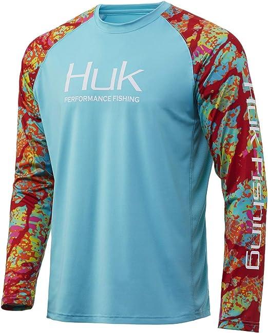 HUK Performance Fishing Herren Double Header Long Sleeve Lang/ärmlig
