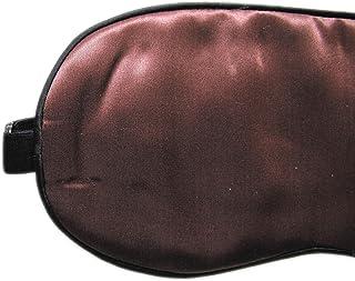 Silky Affection - Silk Sleep Mask, Blindfold, Eye Mask, Travel Gear, Pure Silk, Handmade (Dark Brown)