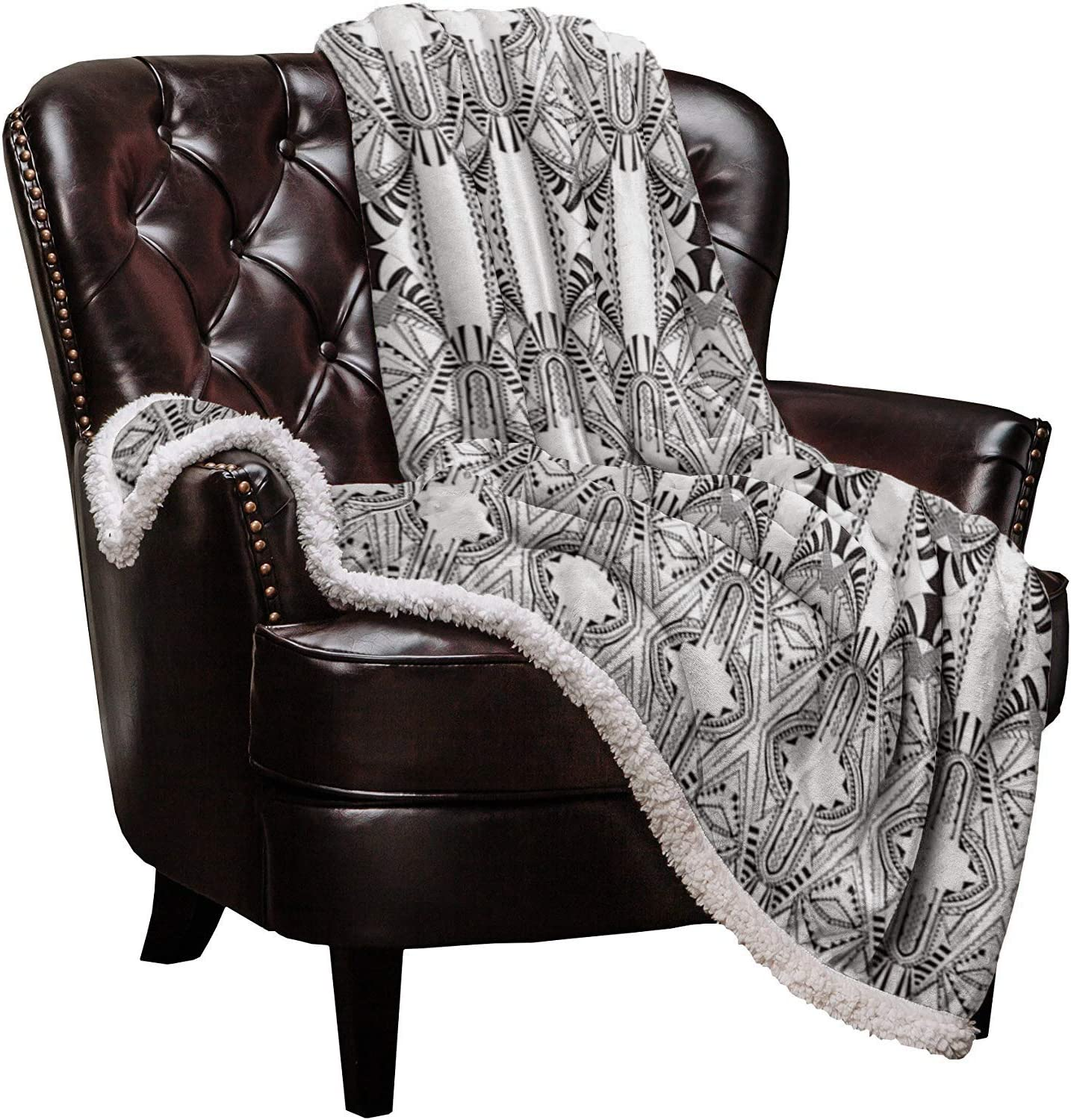 Sherpa Fleece Throw Blanket Royal Pattern Ranking TOP11 Soft Floral Tucson Mall Style Warm