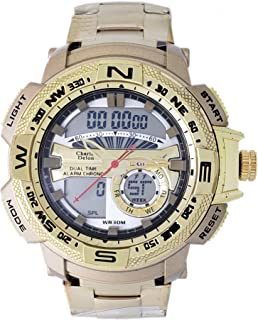 Charles Delon Mens Quartz Watch, Analog-Digital Display and Stainless Steel Strap 5778 GGCD