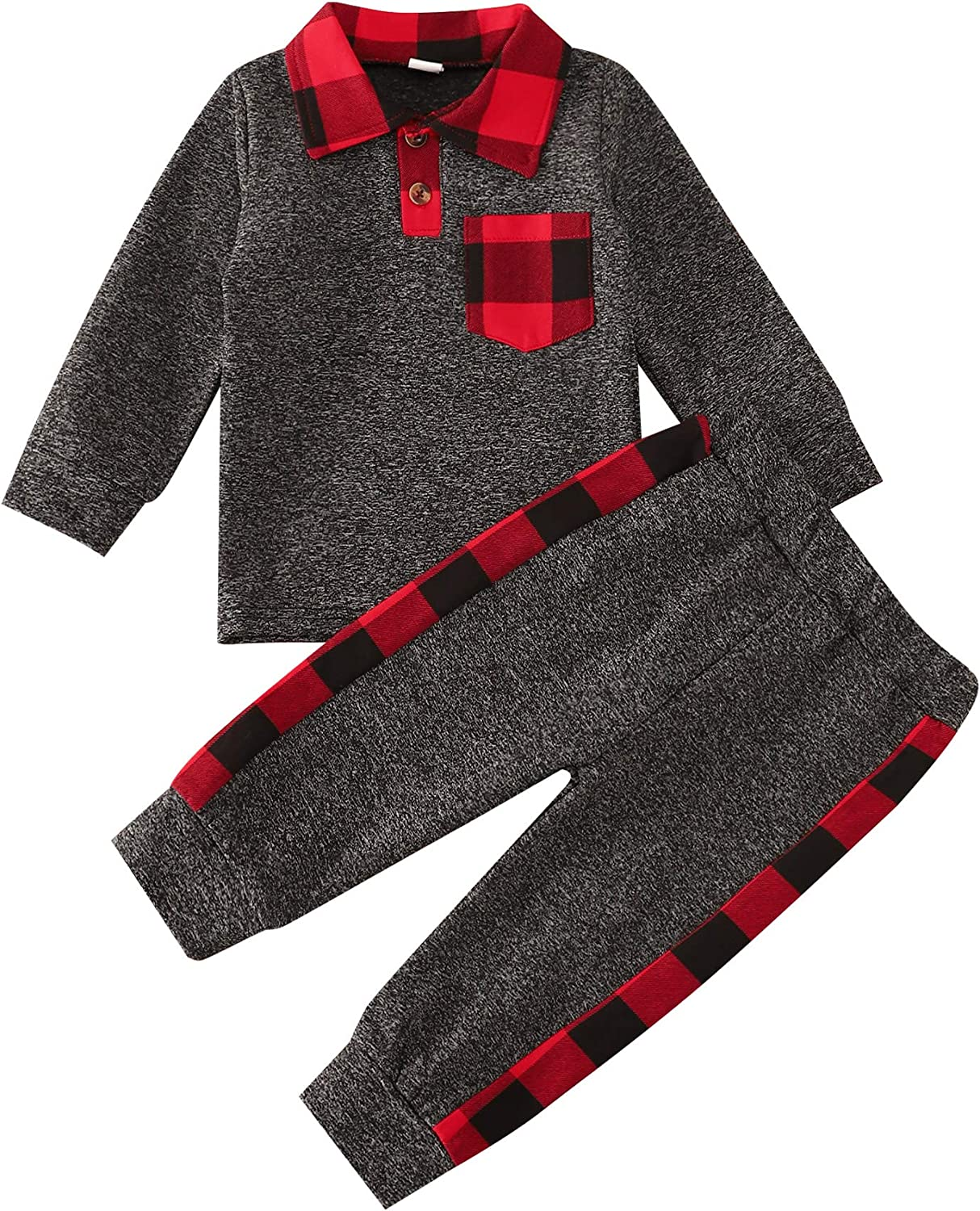 itkidboy Baby Boy Outfits Long Sleeve Stripe Sweatshirt Top +Pants 2PCS Clothes Set