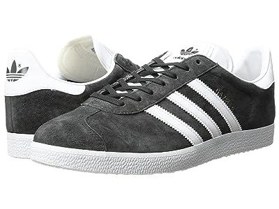adidas Originals Gazelle Foundation (Dark Grey Heather Solid Grey/White/Gold Metallic) Men