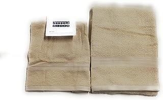 Mis 100/% Spugna di Puro Cotone 430gr//mq Asciugamano Viso Bassetti Set 1+1 Asciugamano Ospite Tinta Unita Colore Rosa Cipria 60x110 cm e 40x60 cm