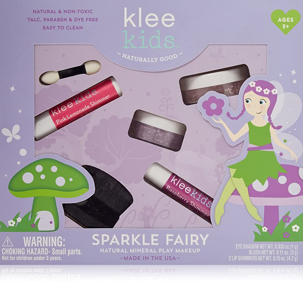 Luna Star Naturals Klee Kids Natural Mineral Makeup 4 Piece Kit, Sparkle Fairy hjtisgvm264