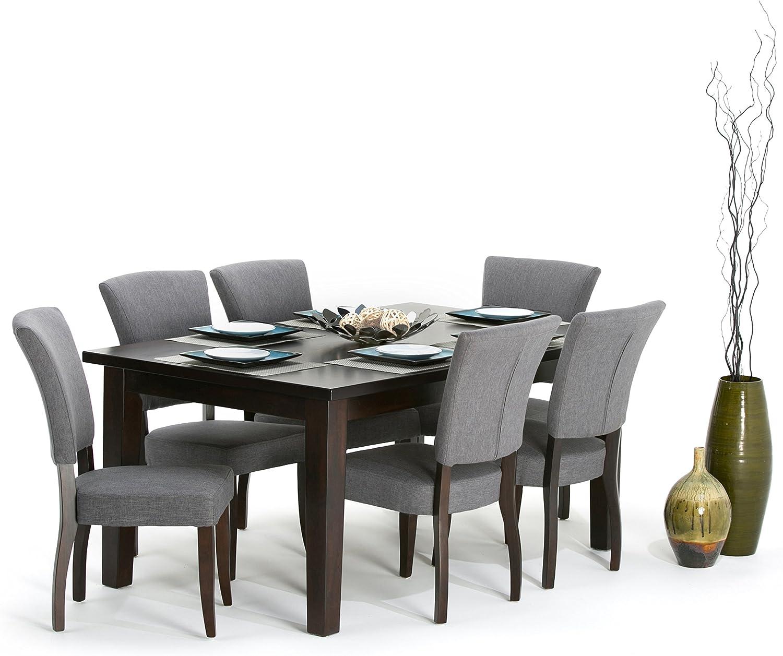 Amazon.com   Simpli Home Joseph Contemporary 9 Pc Dining Set with ...