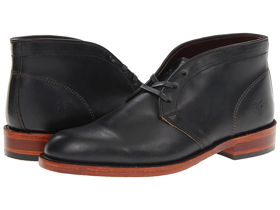 Frye Walter Chukka (Black Smooth Full Grain) Men's Lace up casual Shoes