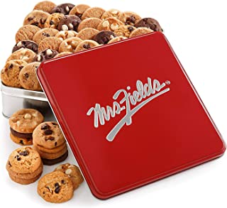 Mrs. Fields Cookies Classic Nibbler Tin (60 Count) Includes 5 Different Flavors - Perfect Gift for any Holiday or Occasion...