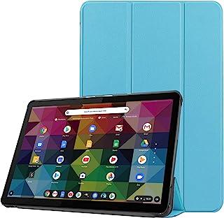 Huos Lenovo IdeaPad Duet Chromebook ZA6F0038JP 10.1インチ カバー ケース タンドケース 三つ折り マグネット開閉式 スタンド機能 折り畳み 薄型 衝撃吸収 超軽量 タブレット用