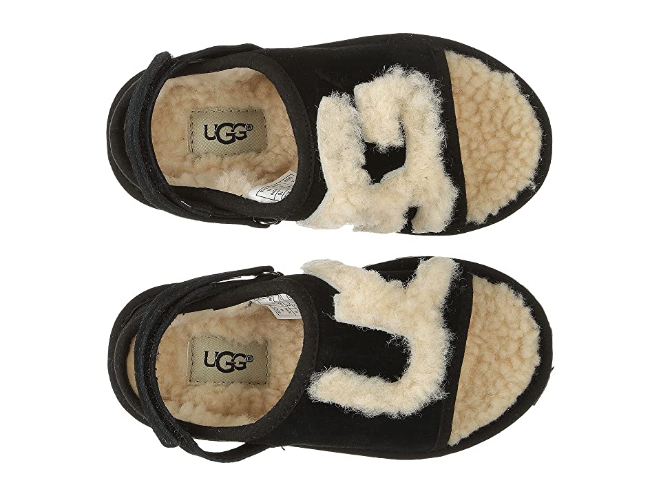 UGG Kids UGG Slide (Toddler/Little Kid) (Black/White) Girl