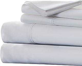 Bedford Home Cotton Rich Sateen Sheet Set, California King, White