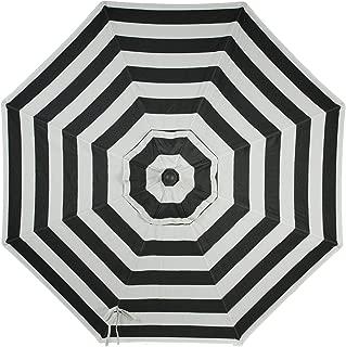 Secret Garden Home Goods 9ft 8 Ribs Market Umbrella Replacement Canopy (Sunbrella- Black Stripe)