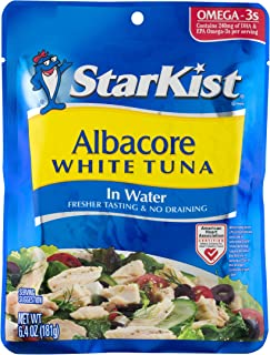 StarKist Albacore White Tuna in Water, 6.4 oz Pouch