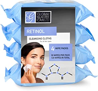 Global Beauty Care Cleansing Wipes - 120 Count 4-Pack (Retinol)