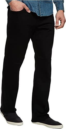 Mavi Jeans - Matt Relaxed Straight Leg in Black Brushed Williamsburg