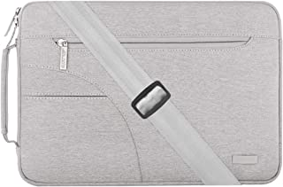 Mosiso dizüstü bilgisayar omuz çantası Sleeve Kılıf Polyester Omuz çantası plastik sap ile Messenger notebook çantası & kılıfı 13-13,3 Zoll (33-33,8 cm) Gri 13-Gray-Shoulder-Side-Pocket