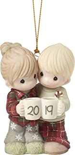 Precious Moments First Christmas Together 2019 Dated Bisque Porcelain Couple 191004 Ornament, One Size, Multi