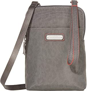 Baggallini New Classic Take Two RFID Bryant Crossbody Pewter Cheetah Emboss One Size