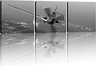3 panel Aircraft Decor Vintage Fighters Flying Fighter Adornment Framed Painting Canvas Prints Vintage Aircraft Art Wall Decor the Picture Print Home Decorative Art Picture Paint on Canvas Prints