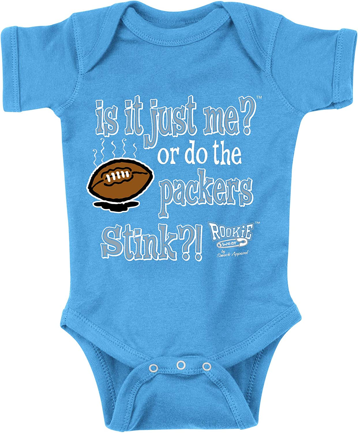 Anti-Packers is it Just Me? Smack Apparel Detroit Football Fans Blue Onesie or Toddler Tee NB-4T