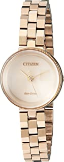 Citizen Women's Eco-Drive Japanese-Quartz Watch with Stainless-Steel Strap, Rose Gold, 4 (Model: EW5503-83X)