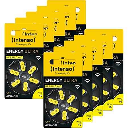 60x Intenso Energy Ultra Hörgeräte Batterie Pr70 Gelb Elektronik