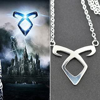 XMDNYE Shuangshuo Der Film Die sterblichen Instrumente Stadt der Knochen Halsketten Angelic Power Runes Shadowhunters Chokerhalskette