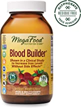MegaFood Blood Builder Iron Supplement - 26 mg of Iron, Supports Energy and Red Blood Cell Production Without Nausea or Constipation, Gluten-Free, Vegan, 180 Tablets (180 Servings) (FFP)