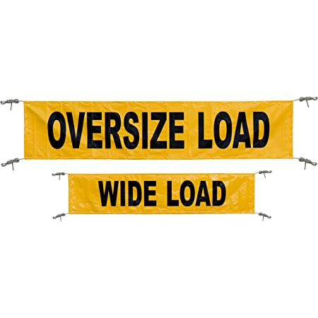Keeper 04903 Yellow 18 X 84 Reversible Oversize Wide Load Banner With Grommets Automotive