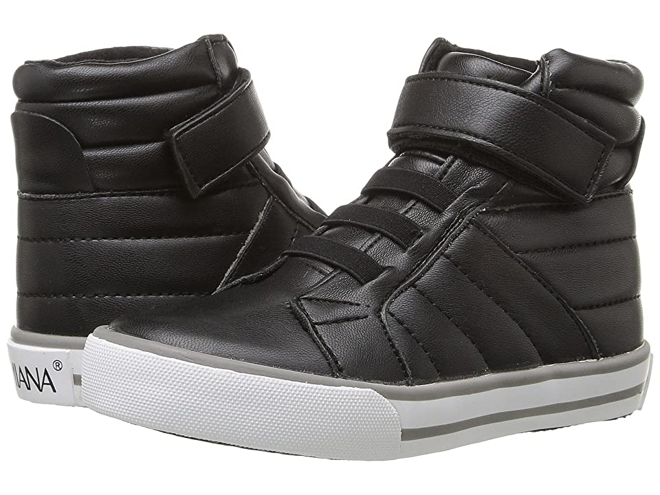 Image of Amiana 15-A5408 (Toddler/Little Kid/Big Kid/Adult) (Black Stretch Nappa) Girl's Shoes