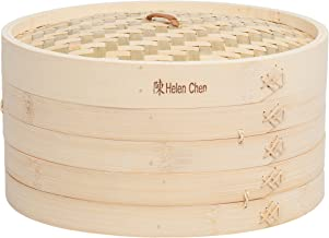 Helen's Asian Kitchen Bamboo Food Steamer with Lid, 12-Inch