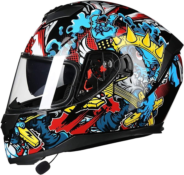 Bluetooth Motorradhelm Klapphelme,Doppelvisier Anti-Fog Visier Motorradhelm Damen Und Herren Integralhelm ECE Genehmigt Motorrad Roller