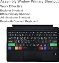 Alovexiong Russian Type Cover Assembly Window Notepad Paint Explorer Ultra-Slim Wireless Bluetooth Shortcuts Keyboard with Trackpad Built-in Rechargeable Battery for Microsoft Surface Pro 3/4/5/6