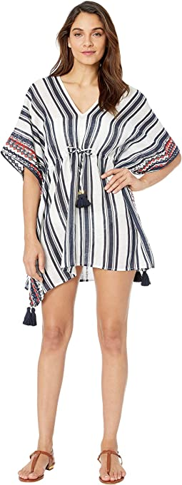 Ravena Awning Stripe Beach Caftan Cover-Up
