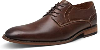 JOUSEN Men's Oxford Retro Leather Formal Dress Shoes
