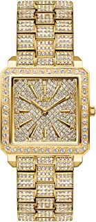 JBW Women's Cristal 12 Diamonds 18K Gold-Plated Stainless Steel Watch, 28MM