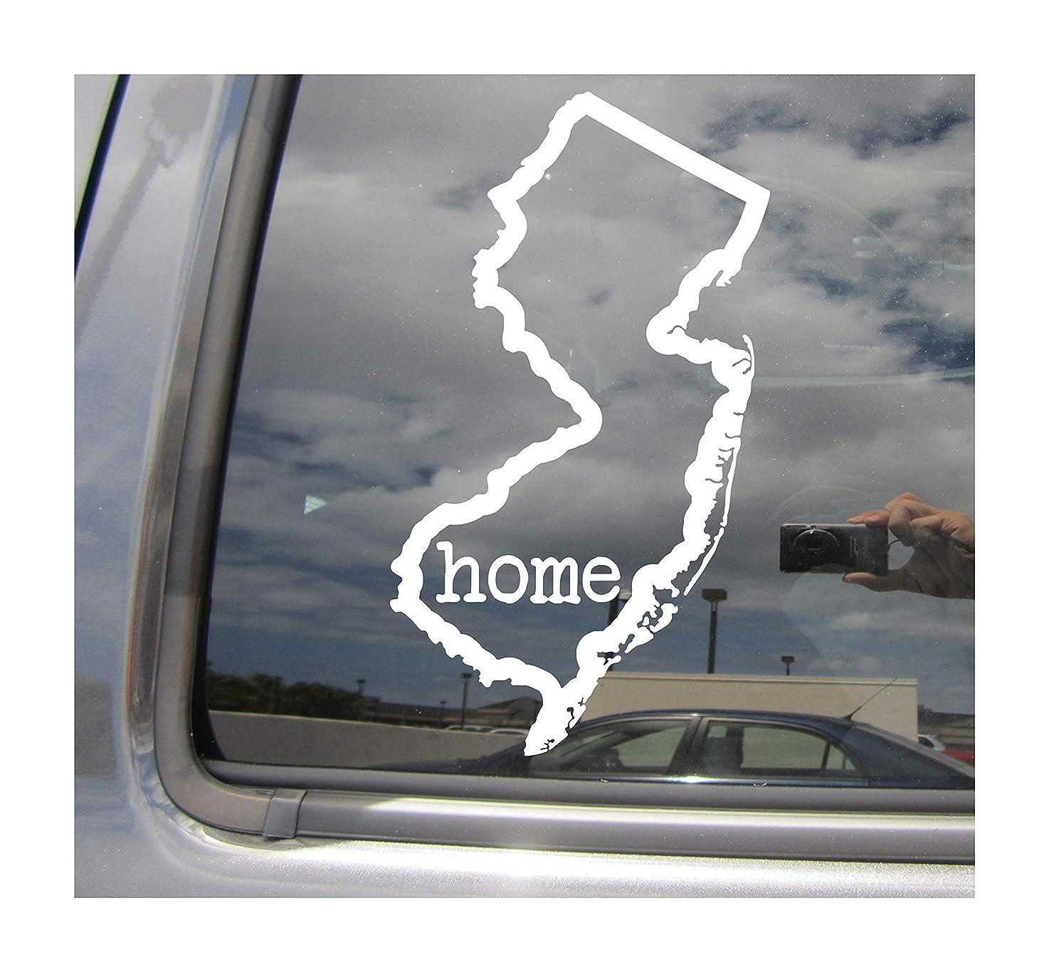 New Jersey State Home Outline - NJ Trenton Newark The Garden State USA America - Cars Trucks Moped Helmet Hard Hat Auto Automotive Craft Laptop Vinyl Decal Store Window Wall Sticker 07030